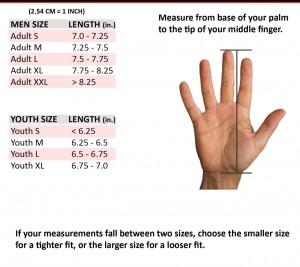 Titan Glove Sizing Chart